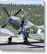 Spitfire On Takeoff Standby Metal Print