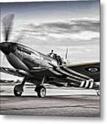 Spitfire Warming Up For D Day Metal Print