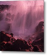 Splash On Rocks Metal Print