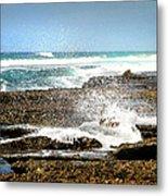 Splashes At Sea Metal Print