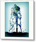 Splashing Fountain Metal Print
