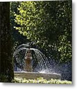 Splashing Water From Fountain Metal Print