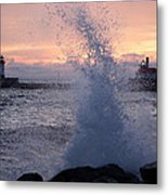 Splashy Sunrise Metal Print