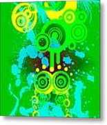 Splattered Series 3 Metal Print