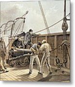 Splicing The Trans-atlantic Telegraph Cable After The First Accident On Board The Great Eastern Metal Print