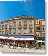 Split Historic Square Panoramic View Metal Print