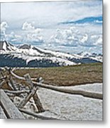 Split Rail Fence Near Alpine Visitor's Center In Rocky Mountain Np-co Metal Print