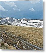 Split Rail Fence On East Side Of Trail Ridge Road In Rocky Mountain National Park-colorado Metal Print