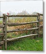 Split-rail Fence - Vertical Metal Print
