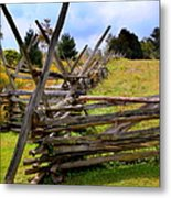 Split Rail Metal Print