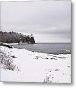 Split Rock Lighthouse Winter 7 Metal Print