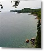 Split Rock View Metal Print by Michelle Ressler