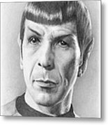 Spock - Fascinating Metal Print by Liz Molnar