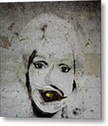 Spoiled Portrait In The Wall Metal Print