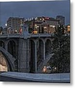 Spokane Cityscape Metal Print by Michael Gass