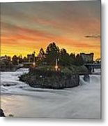 Spokane Sunrise Metal Print by Michael Gass