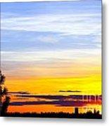 Spokane Wa Sunset Metal Print by Chris Heitstuman