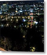 Spokane Washington Skyline At Night Metal Print