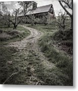 Spooky Apple Orchard Metal Print