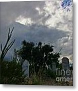 Spooky Boot Hill Cemetery Metal Print