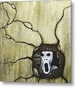 Spooky Metal Print