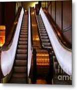 Spooky Escalator At The Brown Palace In Denver Metal Print