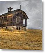 Spooky Old School House Metal Print