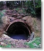Spooky Railroad Tunnel Metal Print
