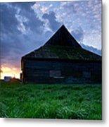 Spooky Shadow Barn Metal Print