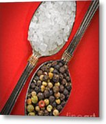 Spoonfuls Of Salt And Pepper Metal Print
