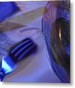 Spoons Forks Knife Collage Metal Print