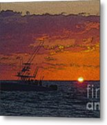 Sport Fisher Metal Print