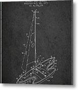 Sport Sailboat Patent From 1977 - Dark Metal Print
