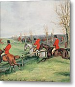 Sporting Scene, 19th Century Metal Print