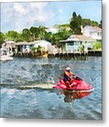 Sports - Man On Jet Ski Metal Print