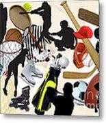 Sports Sports Sports Metal Print by Susan  Lipschutz