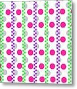 Spotty Stripe Metal Print