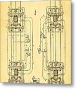 Sprague Electric Railway Patent Art 1885 Metal Print