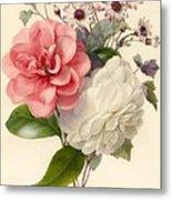 Spray Of Three Flowers Metal Print