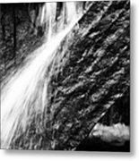 Sprays Of Water On Angled Rock Metal Print