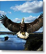 Spread Eagle  Mississippi River Metal Print