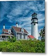 Spring At Cape Cod Light Metal Print