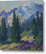 Spring At Mount Rainier Metal Print