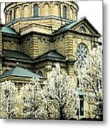 Spring At The Basilica Metal Print