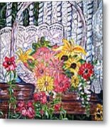 Spring Basket Metal Print by Linda Vaughon