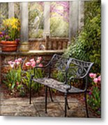 Spring - Bench - A Place To Retire  Metal Print