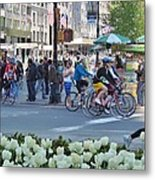 Spring Bike Event From New York To New Jersey Metal Print