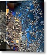 Spring Blossoms In The City - New York Metal Print