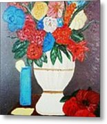 Spring Bouquet In A Vase Metal Print