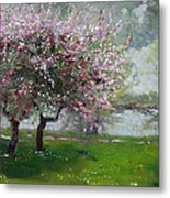 Spring By The River Metal Print